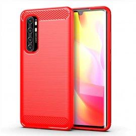 Funda Xiaomi Mi Note 10 Lite Carbono 3D Flexible Roja