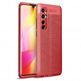 Funda Xiaomi Mi Note 10 Lite Cuero 3D Flexible Roja