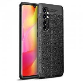 Funda Xiaomi Mi Note 10 Lite Cuero 3D Flexible Negra