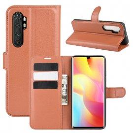 Funda Cartera Xiaomi Mi Note 10 Lite Estuche Cuero Marron