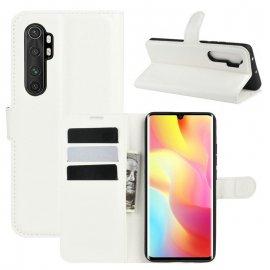 Funda Cartera Xiaomi Mi Note 10 Lite Estuche Cuero Blanca