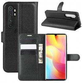 Funda Cartera Xiaomi Mi Note 10 Lite Estuche Cuero Negra