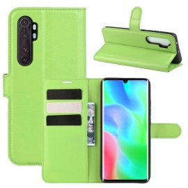 Funda Cartera Xiaomi Mi Note 10 Lite Estuche Cuero Verde