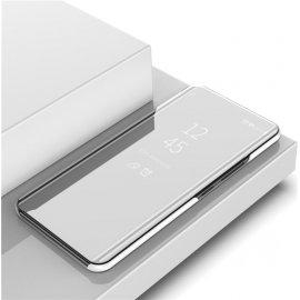 Funda Xiaomi Mi Note 10 Lite Smart libro Espejo Gris Plateada