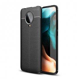 Funda Xiaomi Pocophone F2 Pro Cuero 3D Negra Tpu
