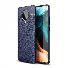 Funda Xiaomi Pocophone F2 Pro Cuero 3D Azul Tpu