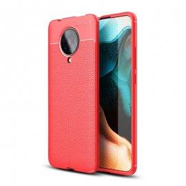 Funda Xiaomi Pocophone F2 Pro Cuero 3D Roja Tpu