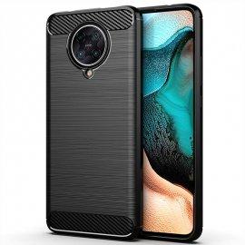 Funda Xiaomi Pocophone F2 Pro Cuero 3D Carbono Tpu