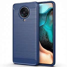 Funda Xiaomi Pocophone F2 Pro Carbono 3D Azul Tpu