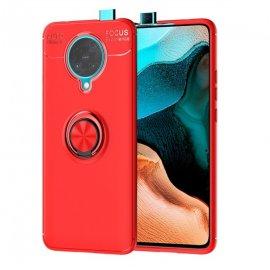 Funda Pocophone F2 Pro Anillo y Magnetica Roja