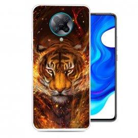 Funda Pocophone F2 Pro TPU Dibujo Tigre