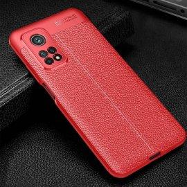 Funda Xiaomi Mi 10T y Mi 10T Pro TPU Cuero Rojo