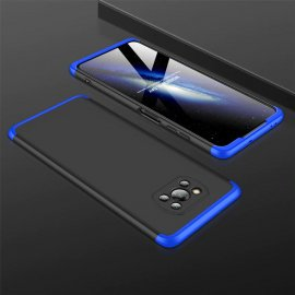 Carcasa Pocophone Poco X3 Pro 360 Negra y Azul GKK