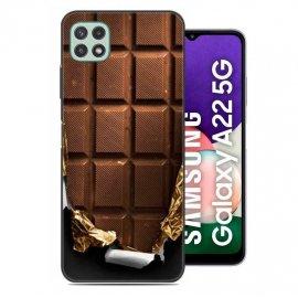 Carcasa flexible Samsung Galaxy A22 5G Chocolate