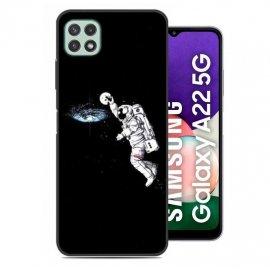 Carcasa flexible Samsung Galaxy A22 5G Astronauta