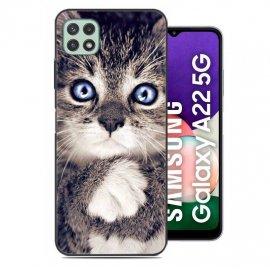 Carcasa flexible Samsung Galaxy A22 5G Gatito