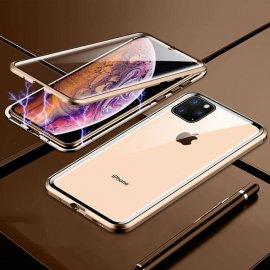 Carcasa 360 iPhone 13 Pro o Pro Max Magnetica Dorada