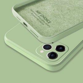 Funda sedosa iPhone 13 Pro o Pro Max verde