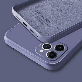 Funda sedosa iPhone 13 Pro o Pro Max Lila