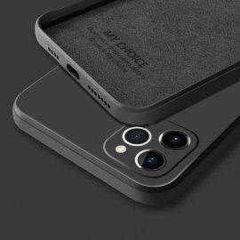 Funda sedosa iPhone 13 Pro o Pro Max Negra
