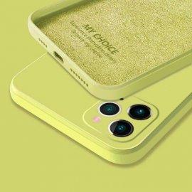 Funda sedosa iPhone 13 Pro o Pro Max Amarilla