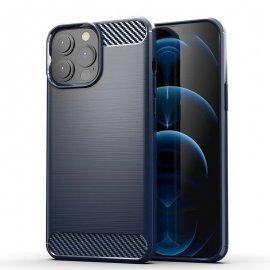 Funda iPhone 13 Pro o Pro Max textura Carbono Azul