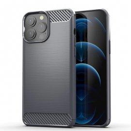 Funda iPhone 13 Pro o Pro Max textura Carbono Gris