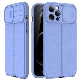 Funda iPhone 13 Pro o Pro Max Silicona cuero Azul