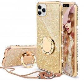 Funda Bling iPhone 13 Pro o Pro Max diamante Dorada