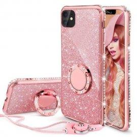 Funda Bling iPhone 13 Pro o Pro Max diamante Oro Rosa