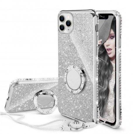 Funda Bling iPhone 13 Pro o Pro Max diamante Oro Blanco