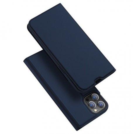 Funda Cuero iPhone 13 Pro y Pro Max Libro Dux azul