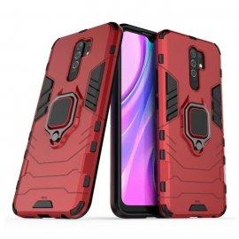 Funda Magnetica Xiaomi Redmi 9 o 9T Anilla Roja