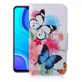 Funda Libro Xiaomi Redmi 9 o 9T dibujo Mariposas