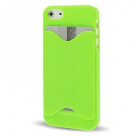 Carcasa IPhone 5 Grafito Porta Tarjeta/Dni/Sip Verde
