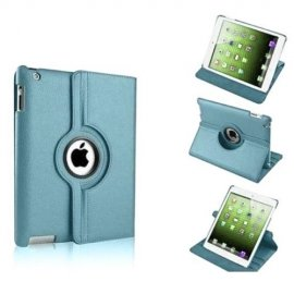 Funda Cuero Ipad Mini 1 2 3 Giratoria Azul