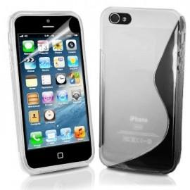 Funda IPhone 5 Gel Transparente Wave