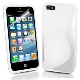 Funda IPhone 5 Gel Blanca Wave