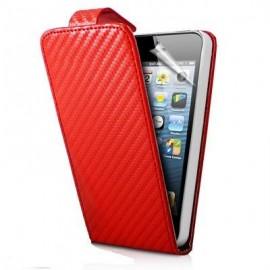 Funda Iphone 5 Fibra Carbono Roja