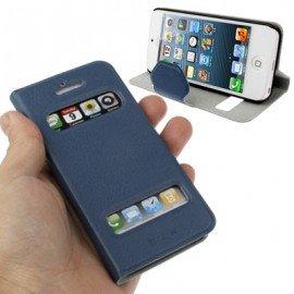 Funda Iphone 5 cuero Orca Soporte Azul