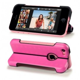 Funda Iphone 5C Soporte Rosa