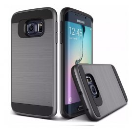 Funda Samsung Galaxy S7 Edge Aluminio Gris Oscuro Anti Golpes