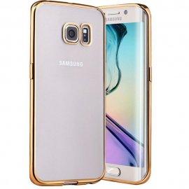 Funda Gel Galaxy S7 Edge con bordes Dorados