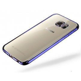 Funda Galaxy A5 2017 Gel Transparente con bordes Azul