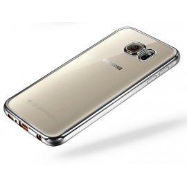 Funda Galaxy A5 2017 Gel Transparente con bordes Plata