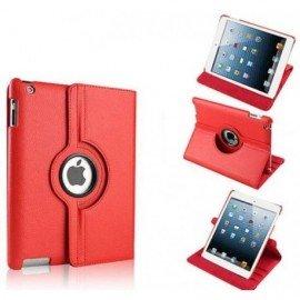 Funda Cuero Ipad Mini 1 2 3 Giratoria Roja