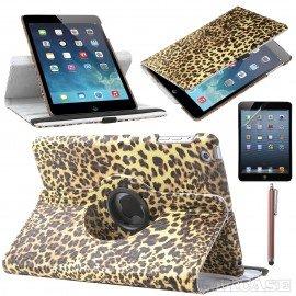 Funda Cuero Ipad Mini 1 2 3 Giratoria Leopardo