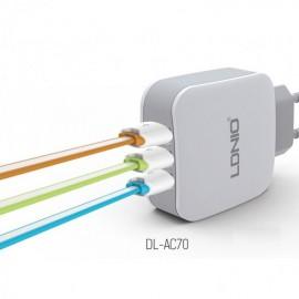 Triple cargador de red 3.4A Alta carga con ID Automatica