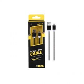 Cable Micro USB 2.0 Smartphones y Tabletas Knob Negro