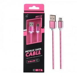Cable Micro USB 2.0 Smartphones y Tabletas Knob Rosa